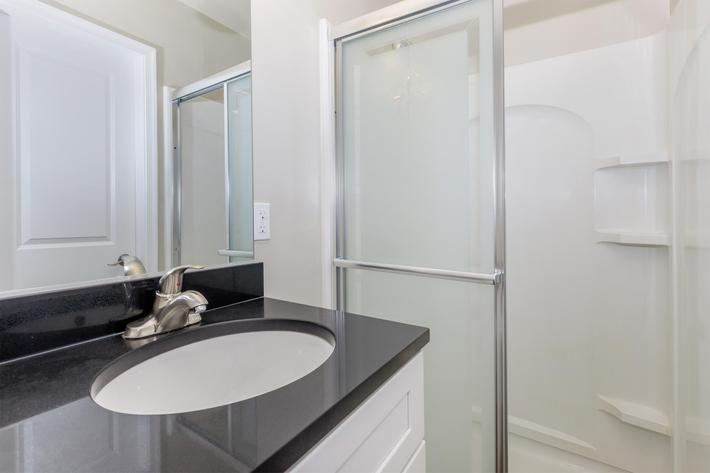 Bathroom at Huntington Square Apartments in Columbia, MD