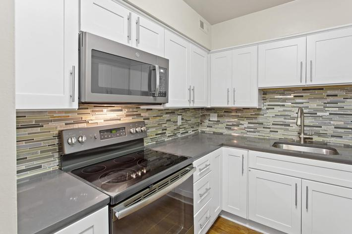 Kitchen at Huntington Square Apartments in Columbia, MD