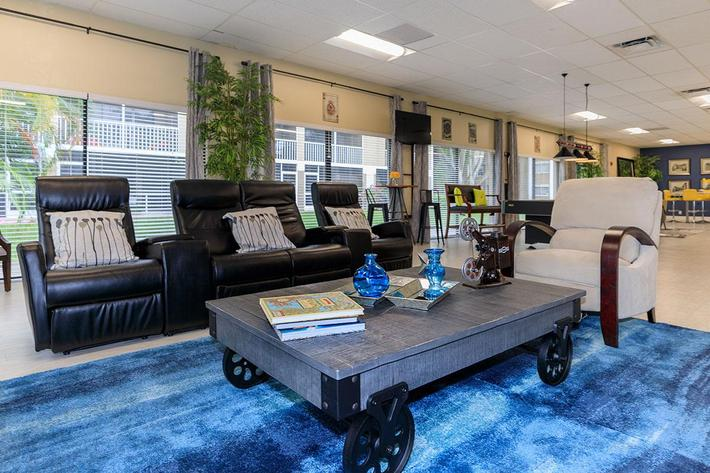 Clubhouse at Belaire Tower Apartments Boca Raton, FL.