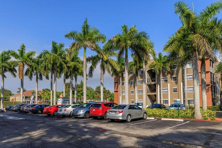 Parking is available at Belaire Tower Apartments Boca Raton, Florida.