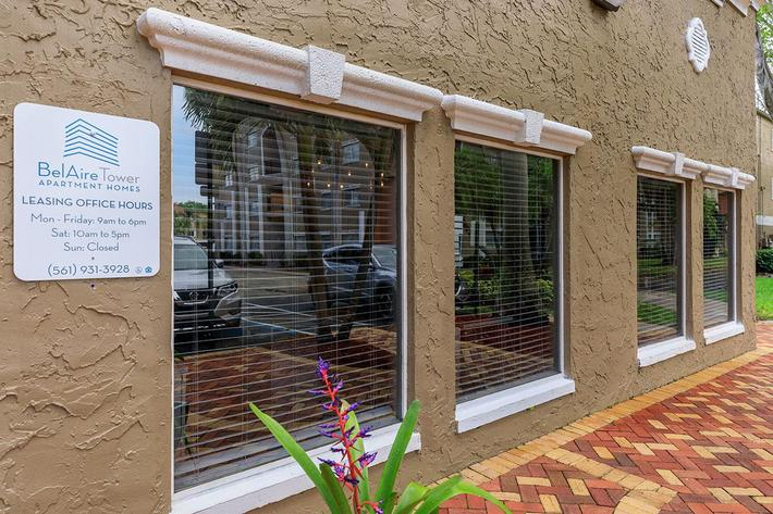 Visit our leasing office at Belaire Tower Apartments Boca Raton, Florida.