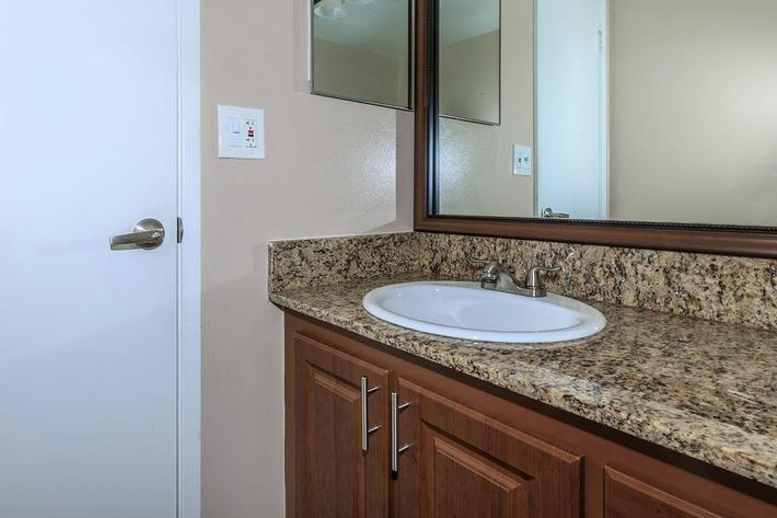 Modern bathrooms at Belaire Tower Apartments Boca Raton, FL.