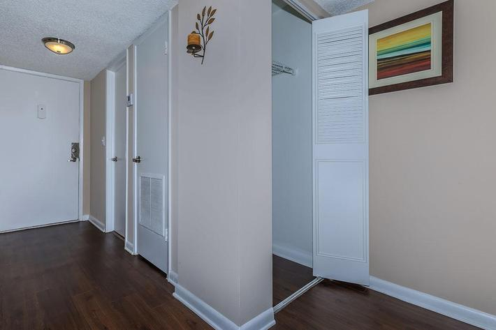 Vinyl wood flooring at Belaire Tower Apartments Boca Raton, Florida.