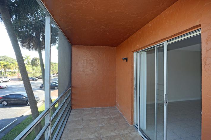 Personal balcony or patio at Belaire Tower Apartments Boca Raton, FL.