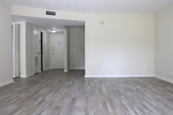 Spacious floor plans at Belaire Tower Apartments Boca Raton, Florida.