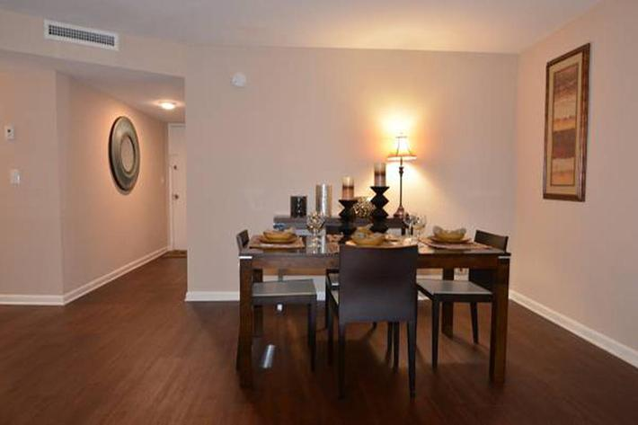 Open floor plans in Tequesta at Belaire Tower Apartments Boca Raton, Florida.