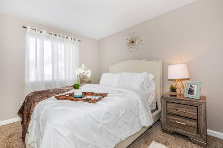 2 bed 1 bath cozy bedroom at Ansley at Harts Road in Jacksonville, Florida