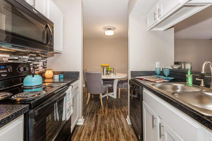 Entertain friends with gourmet kitchen at Ansley at Harts Road in Jacksonville, Florida