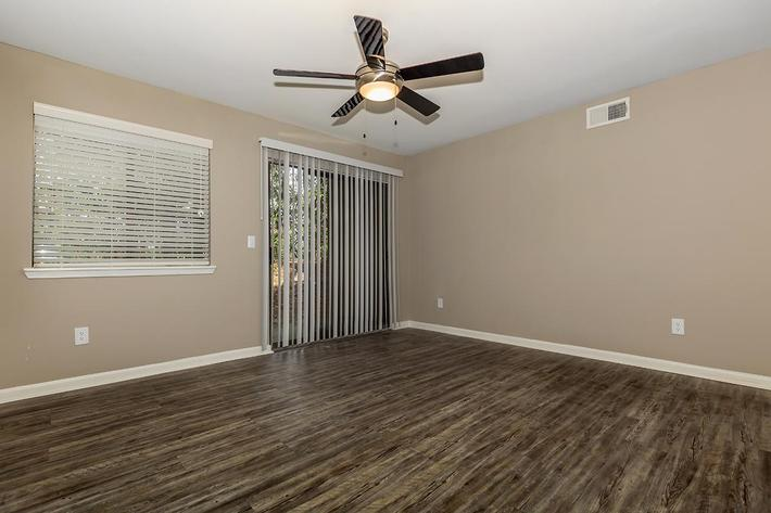 Spacious living room 2 bed 2 bath at Ansley at Harts Road in Jacksonville, Florida