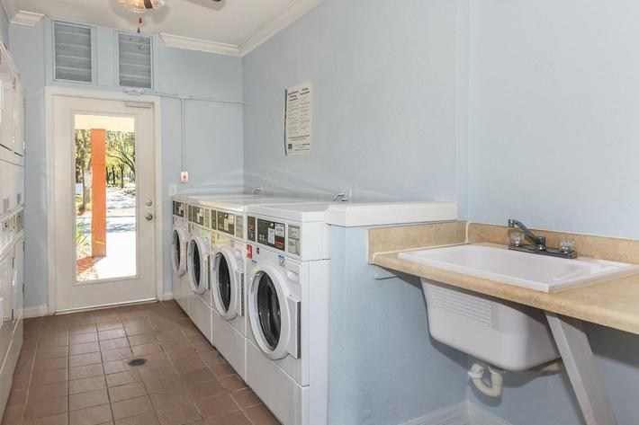 Laundry facility here at Ansley at Harts Road in Jacksonville, Florida