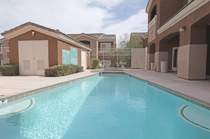 SWIMMING POOL AT TIERRA VILLAS IN LAS VEGAS