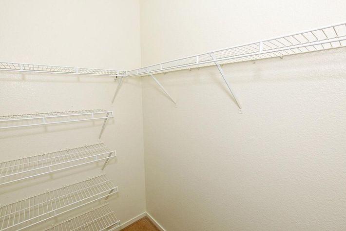 Tierra Villas has walk-in closets
