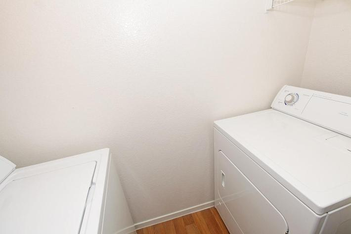 Tierra Villas features a washer and dryer