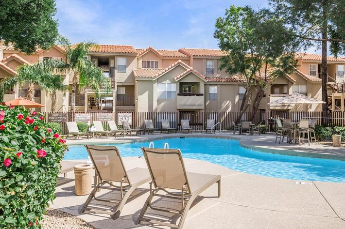 Heated swimming pool in Phoenix, AZ