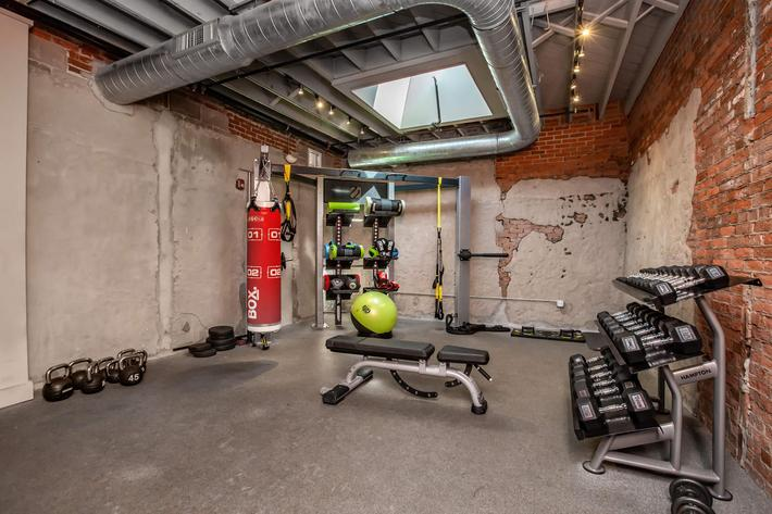 Stay fit in the state-of-the-art fitness centers at South Front In Wilmington, NC.