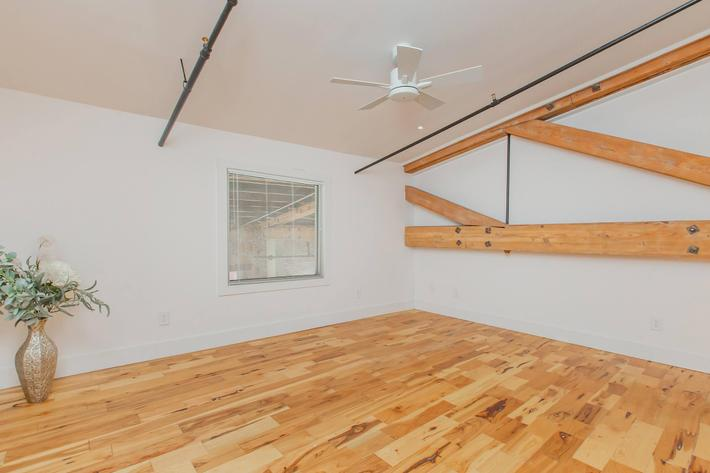 Hardwood flooring at South Front In Wilmington, North Carolina.