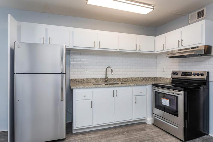 Kitchen full of cabinet space