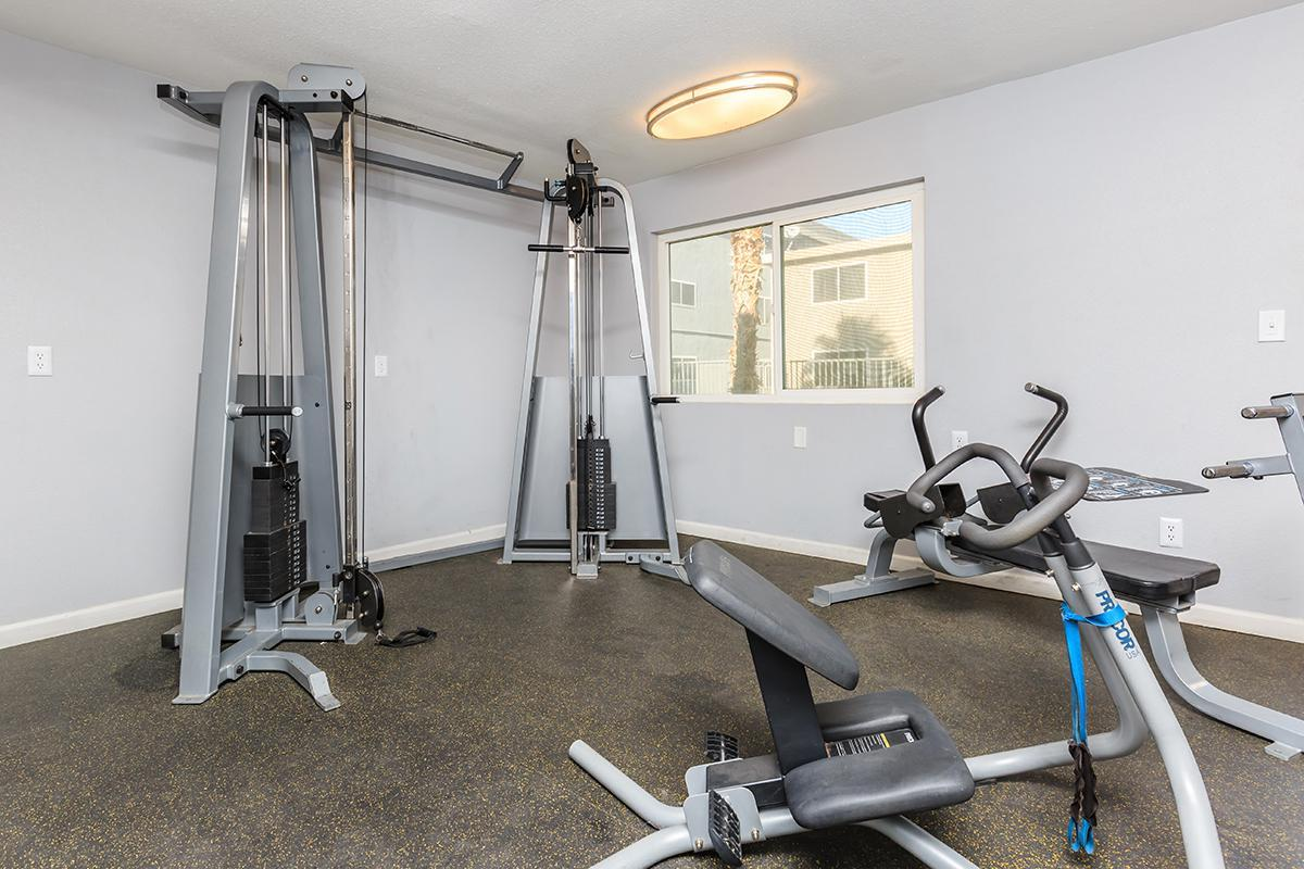 FITNESS ROOM AT SKYLINE PARC IN LAS VEGAS, NEVADA