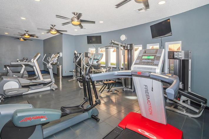 Fitness Center with TVs