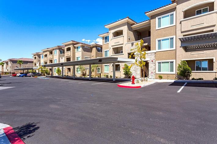 Parking at The View at Horizon Ridge in Henderson, Nevada