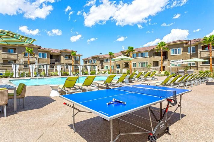 Resort style pool at The View at Horizon Ridge in Henderson, Nevada