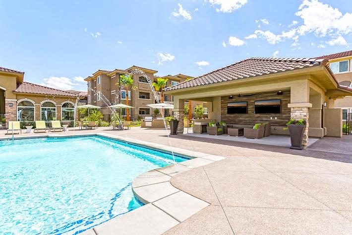 Swimming pool at The View at Horizon Ridge in Henderson, Nevada