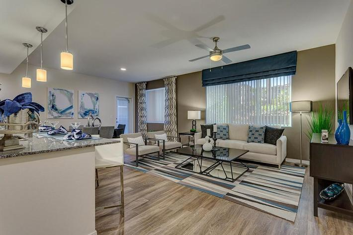 Open floor plan at The View at Horizon Ridge in Henderson, Nevada