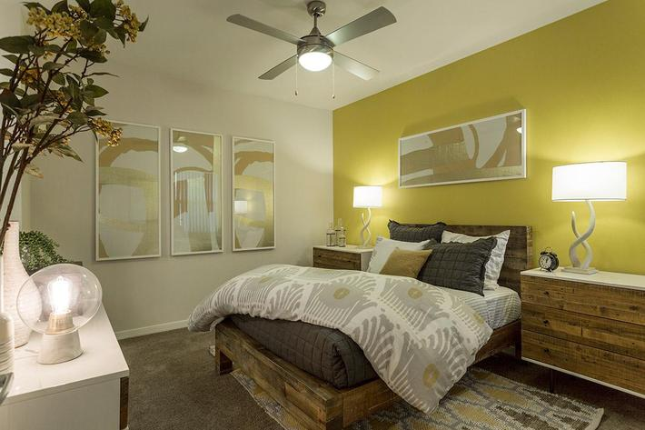 Comfortable Bedroom at The View at Horizon Ridge in Henderson, Nevada