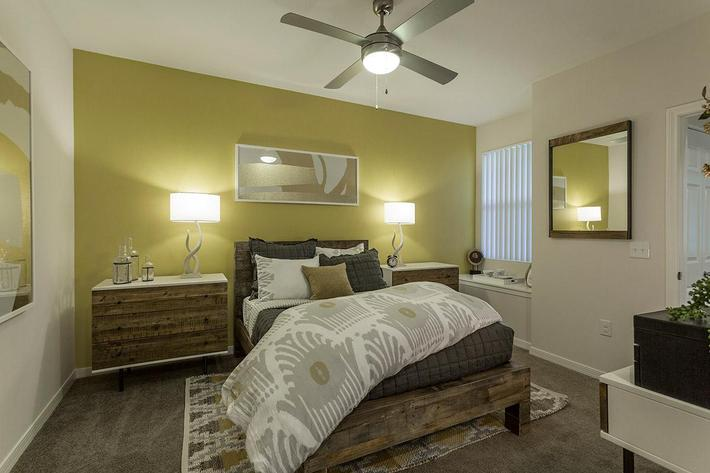 Cozy Bedroom at The View at Horizon Ridge in Henderson, Nevada