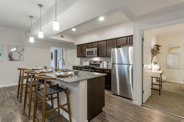 Fully equipped Kitchen at The View at Horizon Ridge in Henderson, Nevada