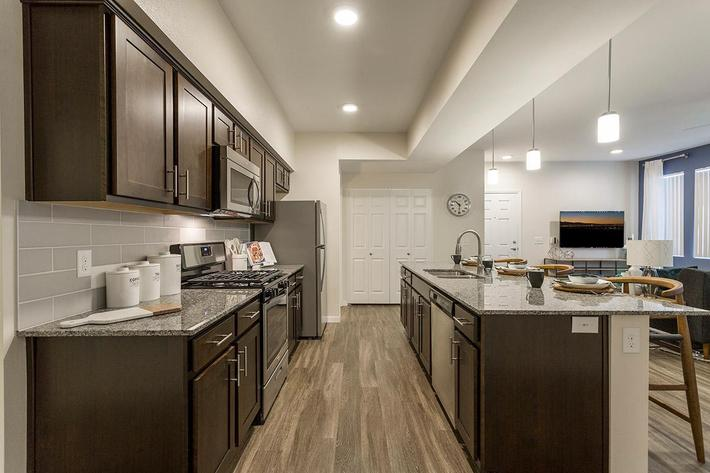 Gourmet Kitchen at The View at Horizon Ridge in Henderson, Nevada