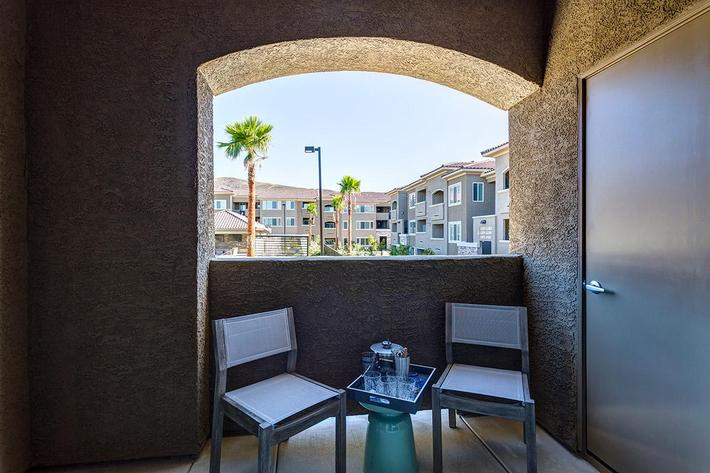 Patio or Balcony at The View at Horizon Ridge in Henderson, Nevada