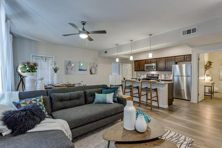Spacious Living Room at The View at Horizon Ridge in Henderson, Nevada
