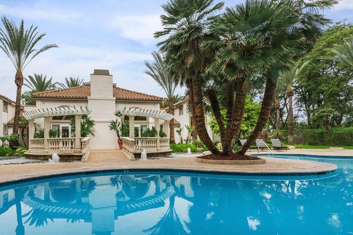 Kick back pool side in Woodland Hills, California