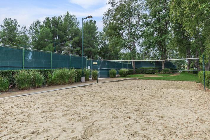 Sand volleyball court at Summit at Warner Center