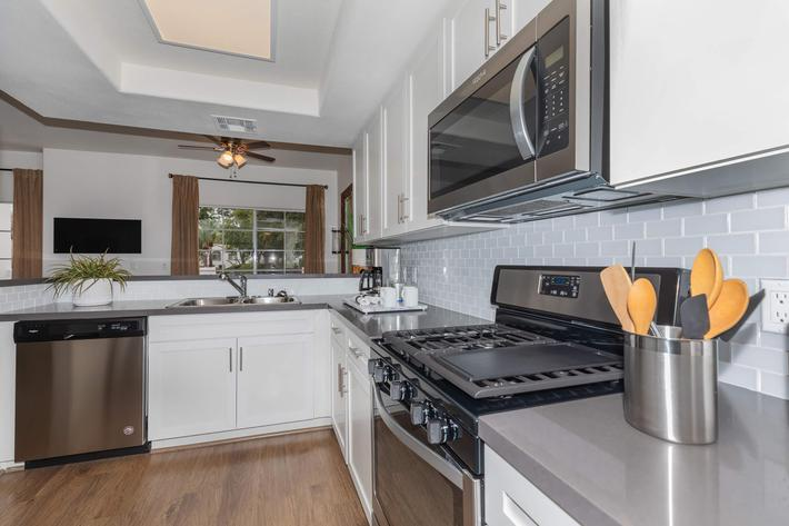 Fully equipped kitchens at Summit at Warner Center