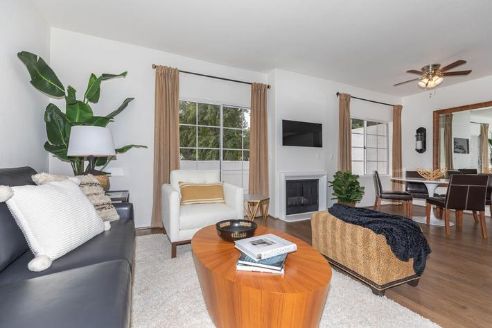 Open concept living here in Woodland Hills, California