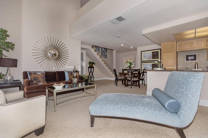 Open floor plans in Woodland Hills, California