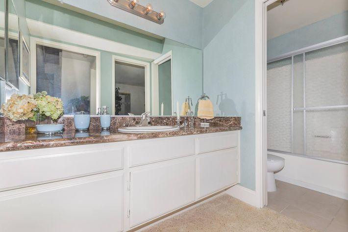 Spacious bathroom here in Woodland Hills, California