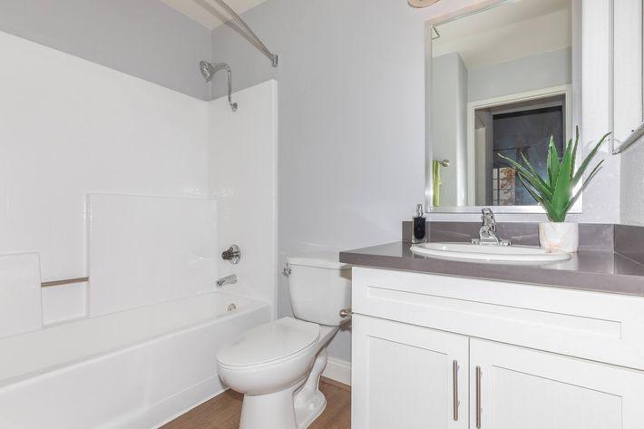 Modern bathrooms at Summit at Warner Center