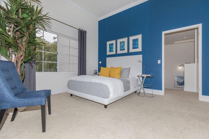 Cozy bedrooms at Summit at Warner Center