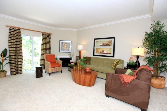 Chic living rooms here at Summit at Warner Center
