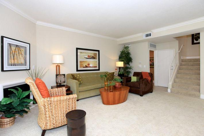Cozy up to the fireplace in Woodland Hills, California
