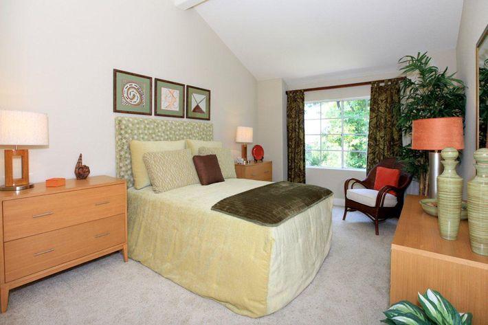 Plush carpeted bedrooms at Summit at Warner Center