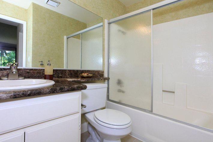 Shower and tub at Summit at Warner Center