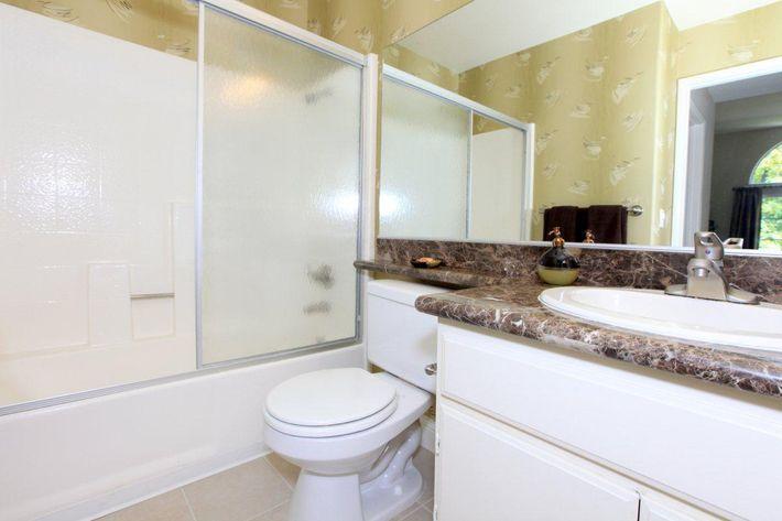 Sleek bathrooms at Summit at Warner Center