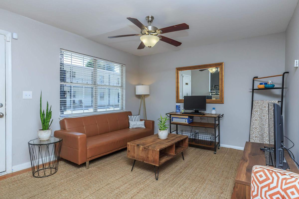 SPACIOUS LIVING ROOMS AT THE PARK AT PEACHTREE HILLS