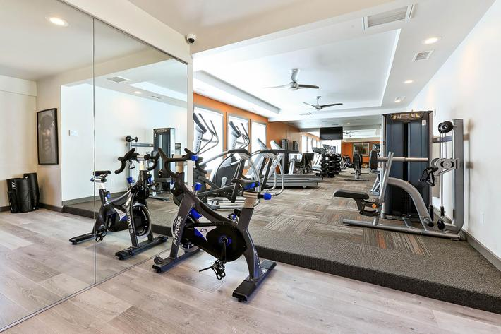 Work Out at The Vue Apartment Homes in San Bernadino, CA