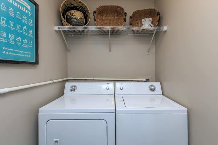 Eagles Crest at Durrett has washer and dryer connections