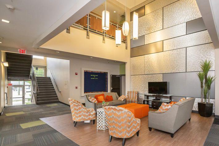 Beautiful Lobby At Uptown Flatsg